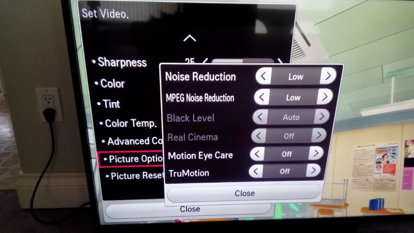 Lower your backlight level on LG LN Series